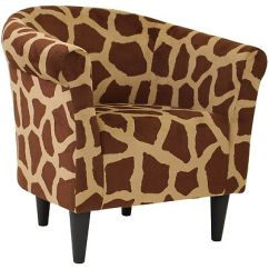 Tub Accent Chair The Revolving Meaning In Hindi Giraffe Design Microfiber Upholstery Padded Seat Furniture