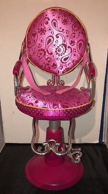 pink salon styling chair dining pads our generation beauty shop fits 18 american girl doll