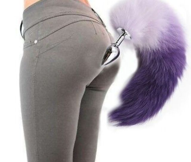 Usa Funny False Fox Tail With Silicone Plug Romance Game Toy Plug Anal Butt Toys
