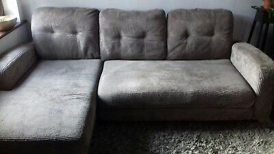 2 seater l shaped sofa bed lazy boy leather with recliners dfs 3 corner and grey