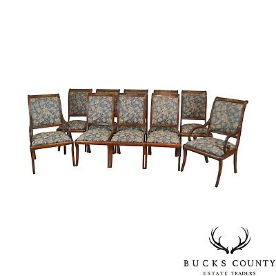 maitland smith dining chairs metal office chair set of 10 regency finished mahogany chippendale henredon natchez collection style