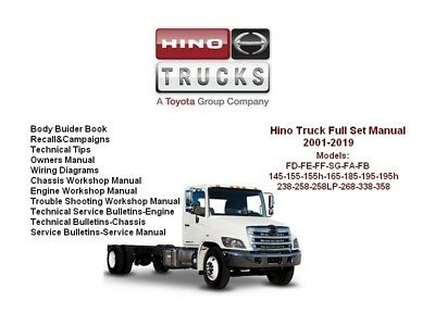 hino fd wiring diagram 2010 toyota tundra trailer truck service workshop repair manual includes engines 2001 2019 download