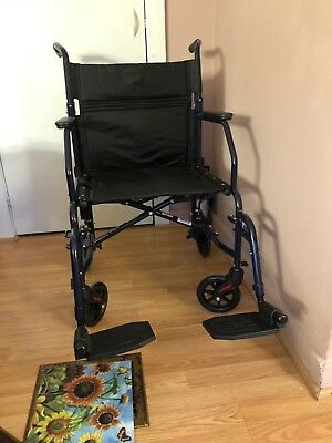 carex transport chair gray wood dining chairs 19 inch wheelchair folding with seat foot rests