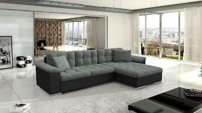 corner sofa bed oslo mini storage container sleep function new sectional sofas in phoenix az avellino leather fabric black grey white