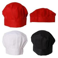 Kitchen Hats Hood Reviews Chef Hat One Size Fit All Elastic Baker Bbq Cafe Cook Cap Uniform Lin Christmas Supplies
