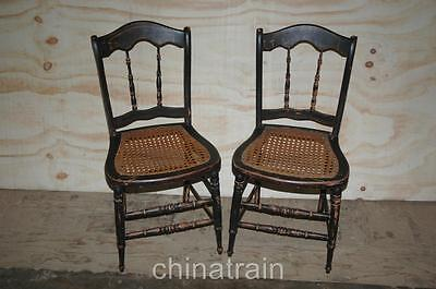 antique cane chairs chair cover rentals baltimore md 2 seat spindle back paint accents 1800s