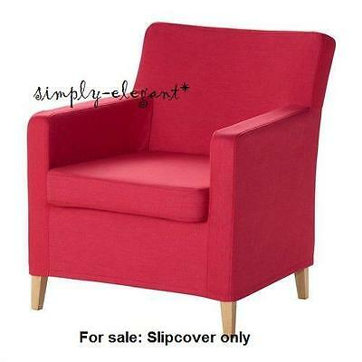 ikea karlstad chair swivel kid cover for small armchair slipcover sivik pink red new