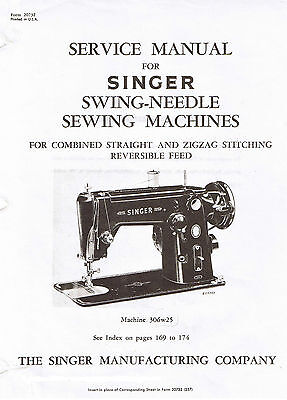 SINGER Sewing Machine Models 327 328 327K 328K Service