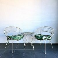 Vintage Retro Wrought Iron Outdoor Rocking Chair Patio Mid ...