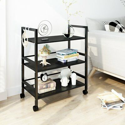wire kitchen cart small lamps for counters langria 3 tier mesh rolling microwave stand storage
