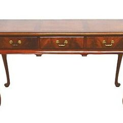 Hickory Chair Co Fishing With Cooler Bag Chippendale Style Mahogany Banded Console Hall Sofa Table