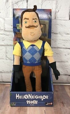New Hello Neighbor 15 Plush Hard To Find In Box Peluche Toy Gamestop Exclusive