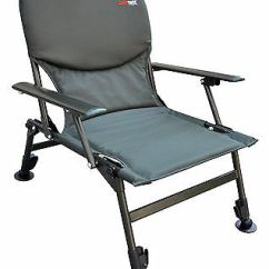 Qdos Fishing Chair White Leather Swivel Superior Arm Lightweight Extra Padded Camping Free Deluxe P