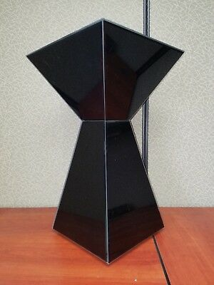 mirrored pyramid living room accent side end table round rugs for 60 00 picclick black