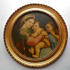 Madonna Of The Chair Rent Chiavari Chairs Vtg Edward Gross Co By Raphael In Ornate Gilt Frame 10