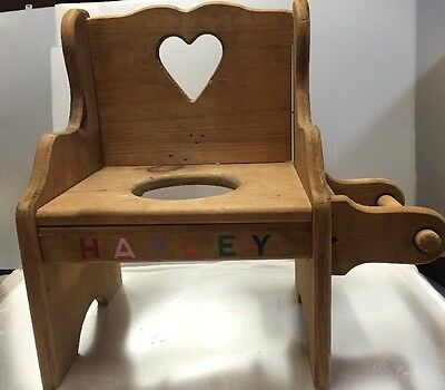 handmade wooden chairs posture chair office vintage child s potty bathroom from the 80
