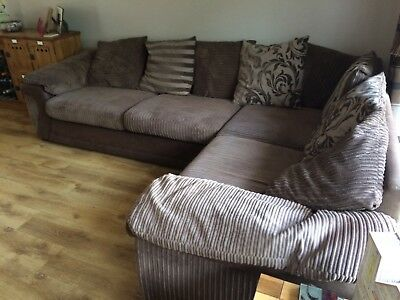 large chaise sofa dfs sofas bizkaia baratos corner in black and grey 300 00 picclick uk rufus pillow back lefthand facing mocha brown