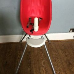 Phil And Teds Poppy High Chair Large Throne 2in1 Highchair Red 35 00 Picclick Uk