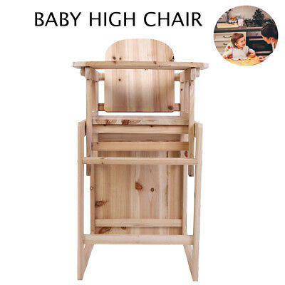 wooden high chair uk handmade wood for home baby 3 in 1 with cushion harness play table highchair