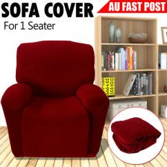 Dining Chair Covers Brisbane Used Rocking Chairs For Sale Stretch Secure Fit Sofa Couch Cover 1 Seater Recliner Slipcover Easy Slipcovers