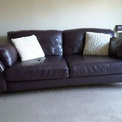 Paloma Sofa Sofology Leather Repair Nyc 3 Seater By Aubergine Chrome Legs Excellent