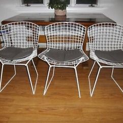 Bertoia Wire Chair Original Childrens Wooden With Name Authentic Knoll Harry Diamond Pad Excellent Chairs In Condition