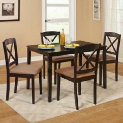 Kitchen Dinette Set Cabinet For Sale Dining 5 Piece Wood Sets Dinner Table 4 Chairs Cushions Smal