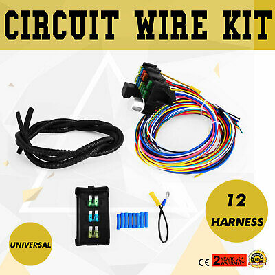 12-14 circuit universal wiring harness muscle car hot rod street rod