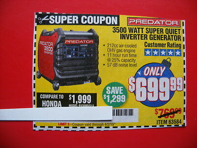 Harbor Freight Predator 3500 Coupon