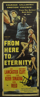 From Here To Eternity 1953 Original 14X36 Movie Poster Montgomery Clifton