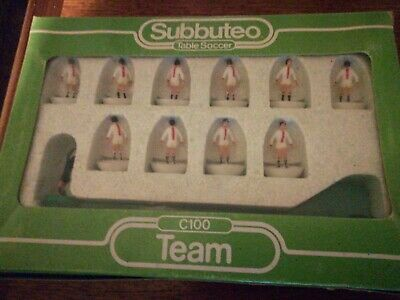 vintage Subbuteo table soccer c100 team boxed not used