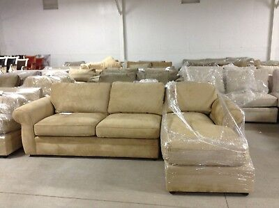 pottery barn chaise sofa sectional customizable toronto pearce couch oat everyday suede loveseat w