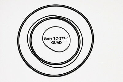 4 X PIECE Drive Belt Set for Sony TC-266 TC-366 / TC-377