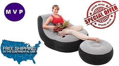intex ultra lounge chair and ottoman small chairs for bedrooms inflatable large video gaming seat new with adult bean bag