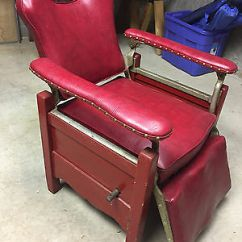 Antique Wood Barber Chair Folding Table Set Wooden 150 00 Picclick