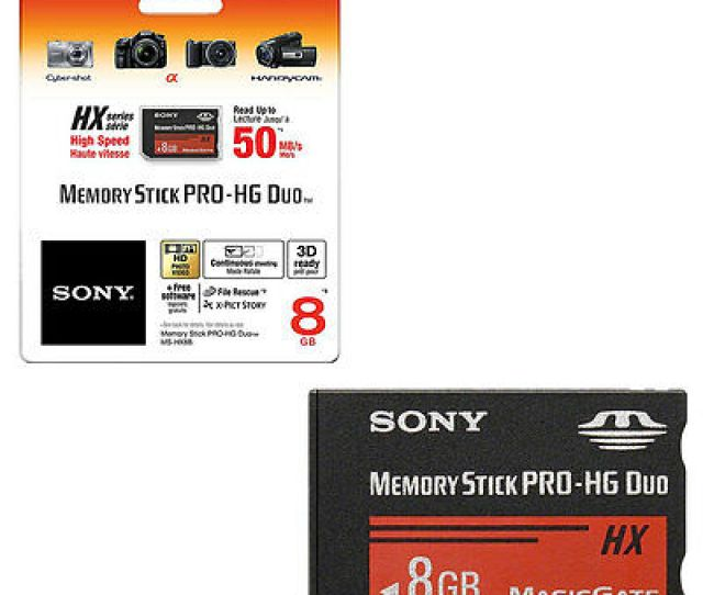 8gb Sony Memory Stick Pro Hg Duo Hx Memory Card Sony Psp Camera Handycam