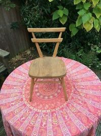 VINTAGE ercol childrens yellow dot school chair. - 16.00 ...