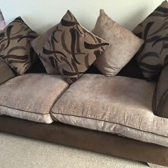 Black 3 Seater Sofa And Cuddle Chair Gl Table Scs 540 00 Picclick Uk Seat