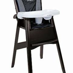 Eddie Bauer Wood High Chair Outdoor Bar Height Swivel Chairs Classic Night Blue 99 75 Picclick