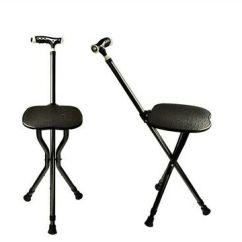 Walking Cane Chair Contemporary Leather Dining Room Chairs Adjustable Folding Stick With Seat And Led Light New