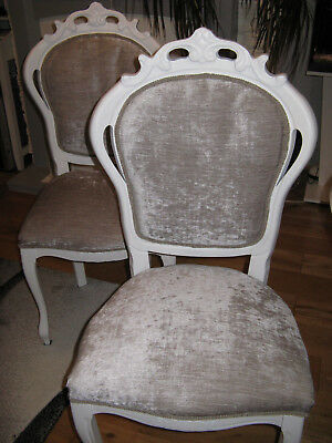 french louis chair ballard designs dining cushions 2x shabby chic rococo bedroom 150 00