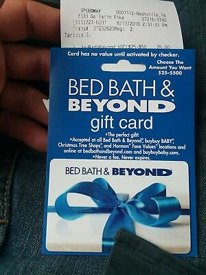 25 bed bath beyond gift card 19 00 picclick
