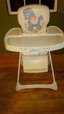 padded high chair stackable rolling chairs vintage graco metal vinyl rocking horse with blocks