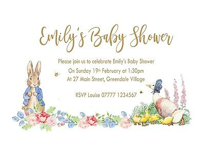 Jemima Baby Shower Invitations Cards