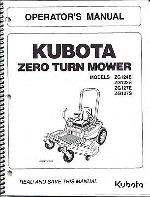 KUBOTA ZD1211 ZD1211L Zero Turn Mower Workshop Service