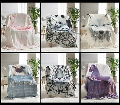 100 polyester sofa throws black and grey corner cheap 3d animal print bed with sherpa reverse throw blanket