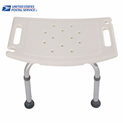united chair medical stool dyeing ikea covers new bath shower adjustable 8 height bench bathtub seat white