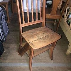 Library Chair Ladder Picnic Time Folding Vintage Antique Step Stool Dining Convertible Rack