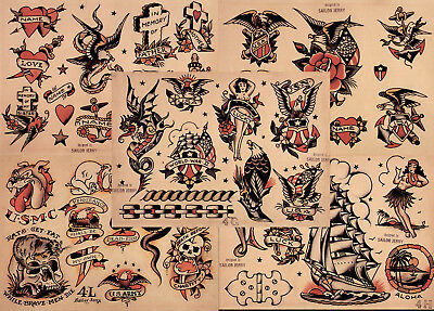 Traditional Tattoo Flash Sheets For Sale