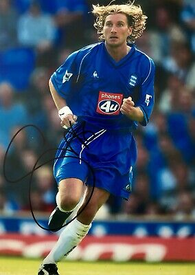 Robbie Savage HAND SIGNED Birmingham City & Wales Photograph *In Person* COA